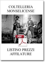 Servizio di affilatura professionale listino pdf