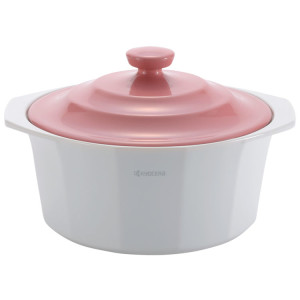 Cocotte In Ceramica Kyocera Coperchio Rosa 2,4l